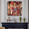 Virgin and Child with Saints from the Altarpiece of San Barnabas Sandro Botticelli Religious Figure Early Renaissance Reproduction Portrait Picture Canvas Print for Room Wall Decor