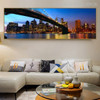 Brooklyn Bridge Modern Cityscape Painting Portrait Print for Lounge Room Wall Assortment