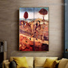 Haywain Hieronymus Bosch Figure Landscape Northern Renaissance Reproduction Portrait Painting Canvas Print for Room Wall Garniture
