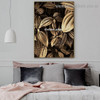 Auric Plant Leaves Botanical Nordic Framed Artwork Painting Canvas Print for Room Wall Ornament