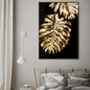 Monstera Gold Leaf Botanical Nordic Framed Portrait Picture Canvas Print for Room Wall Decoration