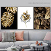 Monstera Golden Leaves Botanical Nordic Framed Artwork Image Canvas Print for Room Wall Decoration