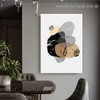 Curved Spots Abstract Nordic Framed Artwork Photo Canvas Print for Room Wall Adornment