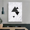 Triangular Design Abstract Nordic Framed Portrait Photo Canvas Print for Room Wall Garniture