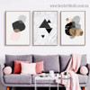 Geometric Triangle Abstract Nordic Framed Artwork Photo Canvas Print for Room Wall Garnish