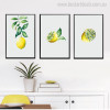 Lemon Slices Modern Botanical Food and Beverages Painting Print for Home Wall Decoration