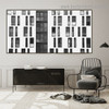 Many Windows Building Architecture Modern Framed Portrait Photo Canvas Print for Room Wall Decoration