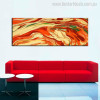 Like Volcanic Abstract Modern Landscapes Panoramic Painting Canvas Print for Wall Outfit