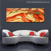 Like Volcanic Abstract Modern Landscapes Panoramic Painting Canvas Print for Home Wall Assortment