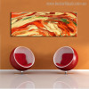 Like Volcanic Abstract Modern Landscapes Panoramic Painting Canvas Print for Living Room Wall Onlay