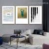 Abstract Deer Head Typography Animal Scandinavian Framed Artwork Photo Canvas Print for Room Wall Garniture