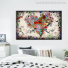 Love Art Abstract Contemporary Botanical Painting Canvas Print for Bedroom Wall Getup