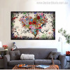 Love Art Abstract Contemporary Botanical Painting Canvas Print for Wall Disposition
