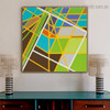 Colorific Zigzag Streaks Abstract Modern Framed Artwork Picture Canvas Print for Room Wall Flourish