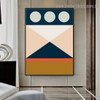 Chromatic Geometric Design Abstract Modern Framed Artwork Photo Canvas Print for Room Wall Ornament