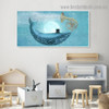 Starry Sky Dolphin Animal Fantasy Modern Framed Portrait Picture Canvas Print for Room Wall Ornament