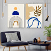 Helicoid Pattern Abstract Scandinavian Framed Artwork Picture Canvas Print for Room Wall Décor