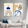 Helicoid Pattern Abstract Scandinavian Framed Artwork Photo Canvas Print for Room Wall Flourish