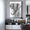 Jumbo Abstract Animal Contemporary Painting Print for Room Wall Decor