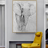 Big Elephant Abstract Animal Modern Painting Print for Room Wall Garnish