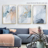Dapple Hazy Marble Abstract Modern Framed Portrait Image Canvas Print for Room Wall Decoration
