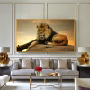 Perched Lion Animal Modern Canvas Print for Room Wall Garnish