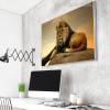 Perched Lion Animal Modern Canvas Print for Room Wall Decor