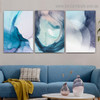 Varicolored Hazy Art Abstract Modern Framed Portrait Picture Canvas Print for Room Wall Decoration
