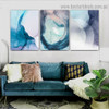 Varicolored Hazy Art Abstract Modern Framed Portrait Image Canvas Print for Room Wall Ornament