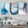 Varicolored Hazy Art Abstract Modern Framed Portrait Photo Canvas Print for Room Wall Adornment