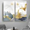 Aerial Bird Cluster Abstract Modern Framed Artwork Portrait Canvas Print for Room Wall Flourish