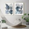 Tropical Palm Leaf Botanical Watercolor Framed Portrait Artwork Canvas Print for Room Wall Garnish