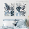 Tropical Palm Leaf Botanical Watercolor Framed Portrait Painting Canvas Print for Room Wall Décor