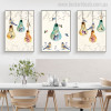 Light Bulbs Animal Floral Modern Painting Picture Print for Dining Room Wall Decor