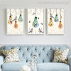 Light Bulbs Animal Floral Modern Painting Picture Print for Lounge Room Wall Getup