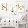 Light Bulbs Animal Floral Modern Painting Picture Print for Room Wall Finery