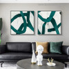 Zigzag Stripes Abstract Modern Framed Portrait Image Canvas Print for Room Wall Decoration