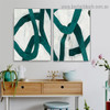 Vagabond Retro Line Abstract Modern Framed Artwork Picture Canvas Print for Room Wall Decor