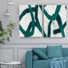 Vagabond Retro Line Abstract Modern Framed Artwork Image Canvas Print for Room Wall Drape