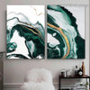 Dapple Stripes Marble Abstract Modern Framed Portrait Painting Canvas Print for Room Wall Decor