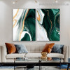 Flexion Marble Abstract Modern Framed Artwork Picture Canvas Print for Room Wall Adornment