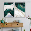 Ripply Stroke Design Abstract Modern Framed Portrait Painting Canvas Print for Room Wall Garnish