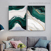 Ripply Stroke Design Abstract Modern Framed Portrait Image Canvas Print for Room Wall Ornament