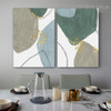 Strolling Smirch Abstract Modern Framed Portrait Image Canvas Print for Room Wall Adornment