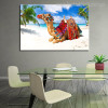 Camel Nature Landscape Animal Beach Canvas Artwork Print for Dining Room Wall Decor