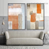 Dapple Brush Blot Abstract Modern Framed Portrait Image Canvas Print for Room Wall Adornment