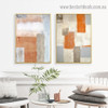 Dapple Brush Blot Abstract Modern Framed Portrait Photo Canvas Print for Room Wall Decoration