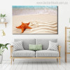 Star Fish Modern Seascape Animal Painting Picture Canvas Print for Lounge Room Wall Ornament