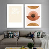 Helicoidal Pattern Abstract Scandinavian Framed Artwork Picture Canvas Print for Room Wall Décor