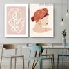 Splay Streaks Abstract Figure Scandinavian Framed Portrait Image Canvas Print for Room Wall Spruce